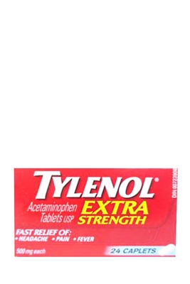 Picture of TYLENOL EXTRA STRENGTH CAPLETS 24s