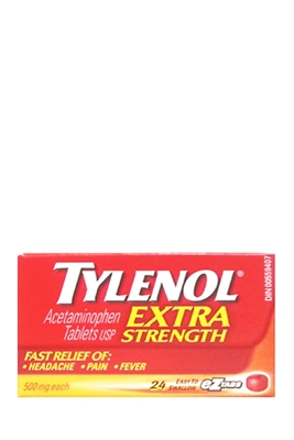 Picture of TYLENOL EXTRA STRENGTH TABLETS 24s