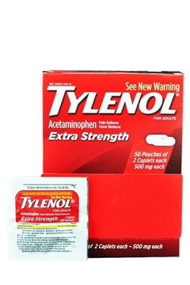 Picture of TYLENOL EXTRA STRENGTH CAPLETS 50x2S