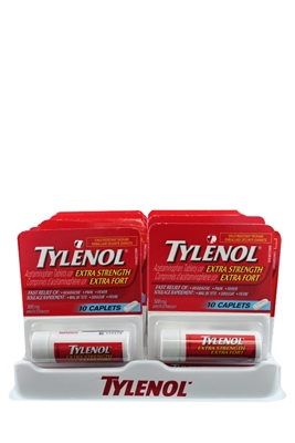 Picture of TYLENOL CAPLETS EXTRA STRENGTH CAPLETS 10s