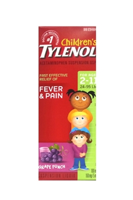 Picture of TYLENOL CHILDRENS GRAPE PUNCH 100ML