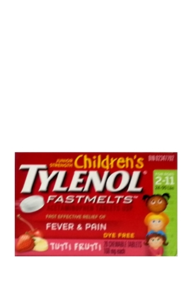 Picture of TYLENOL CHILDRENS FAST MELTS TUTI FRUTI 160MG