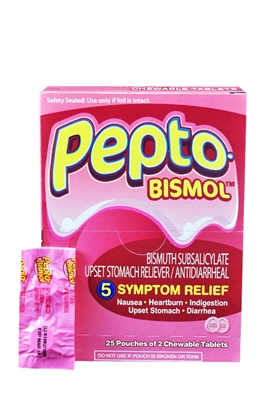 Picture of PEPTO BISMOL CHEW TAB POUCH 25X2S