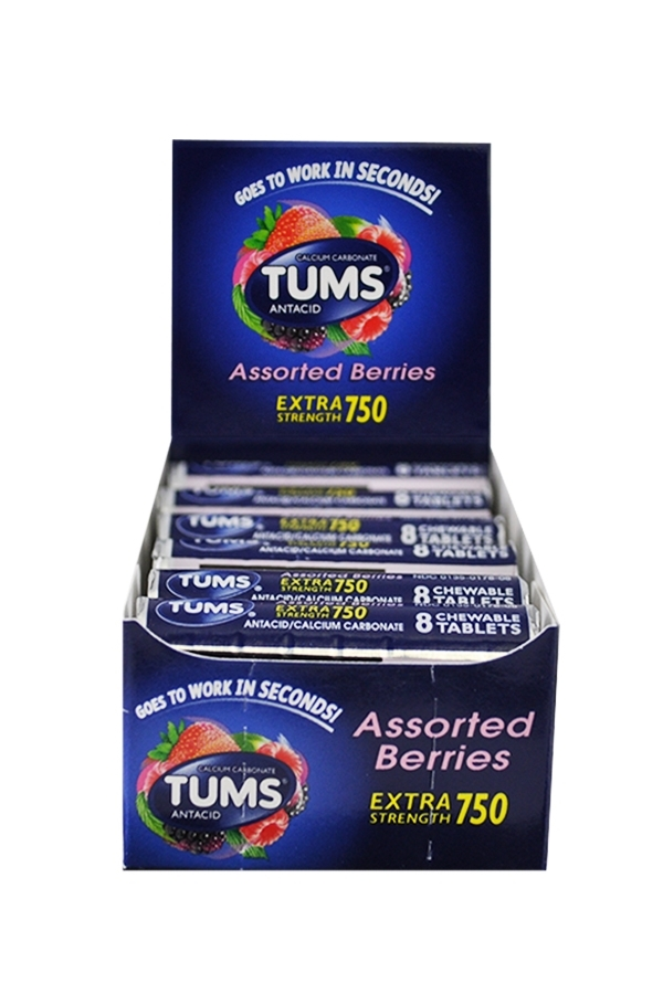 Picture of TUMS ASSORTED BERRIES EXTRA STRENGTH 12 ROLLS 750MG