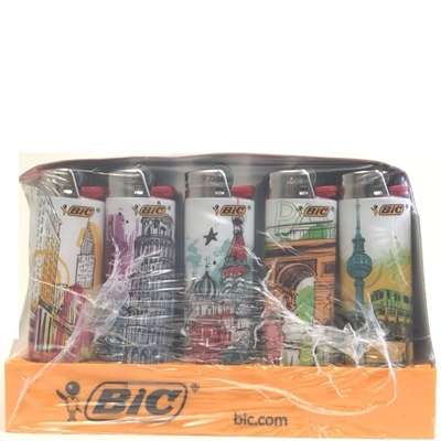 Picture of Bic Lighters Monuments Series - 50 Pcs Display Case
