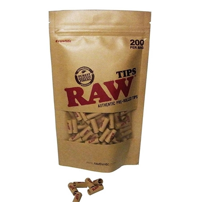 Picture of RAW Pre-Rolled Tips Bag - 200 Pcs
