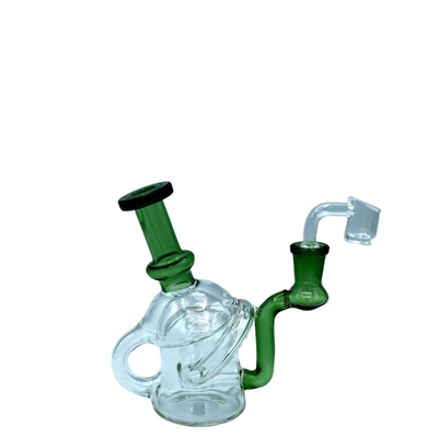 """Picture of 5.5"""" Axis Glass Recycler Rig With Banger"""