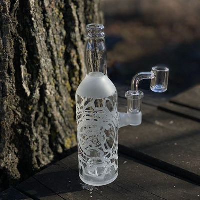 """Picture of 7.5"""" Frosted Bottle Rig With Banger"""