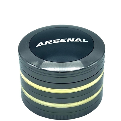 Picture of Arsenal Chrome 63mm 4-Piece Grinder
