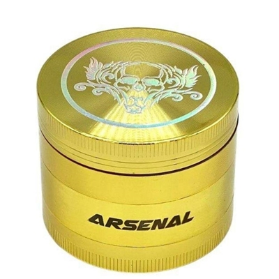 Picture of Grinder Gold Skull 55mm 4-Piece