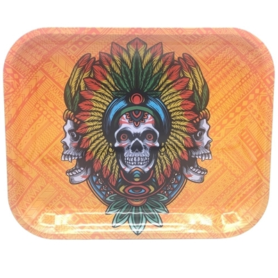 Picture of Large   Metal Rolling Tray -Kush Tribal