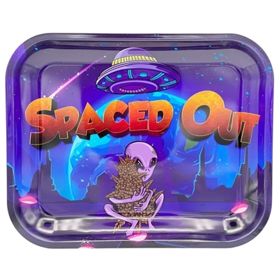 Picture of Large  Metal Rolling Tray -Spaced Out OG