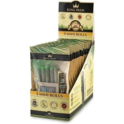 Picture of King Palm Organic 5 Mini Rolls Pre-Rolled Wraps - 15 Pack
