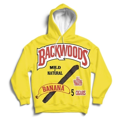 Picture of Funky Hoodie - Yellow Banana Design