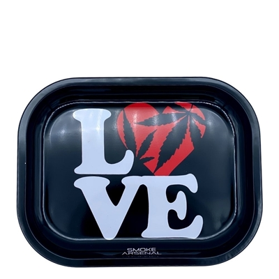 Picture of Small  Metal Rolling Tray -Love