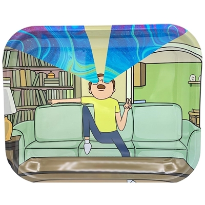 Picture of Large Metal Rolling Tray- Mortyfied